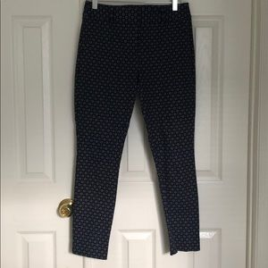 Blue diamond print dress pants